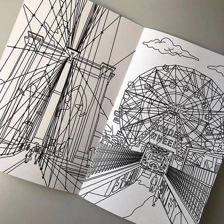 coney island custom coloring book