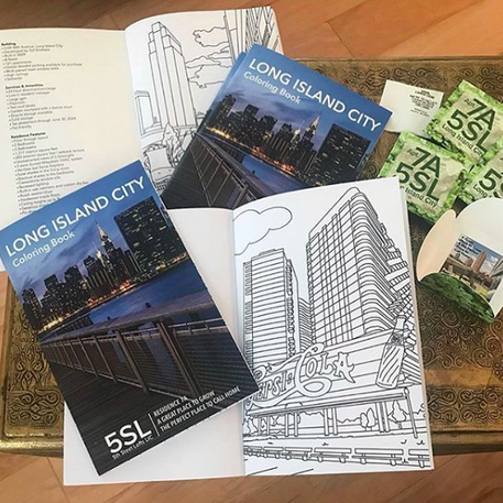 long island city custom coloring book