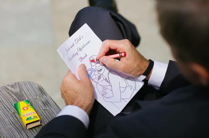 lgbt wedding custom coloring book
