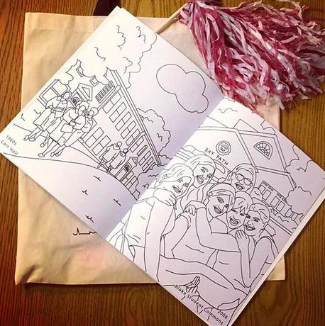 University custom coloring book