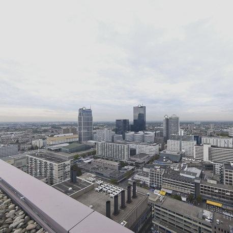 Het huidige beeld van het overgrote deel van het Rotterdamse daklandschap