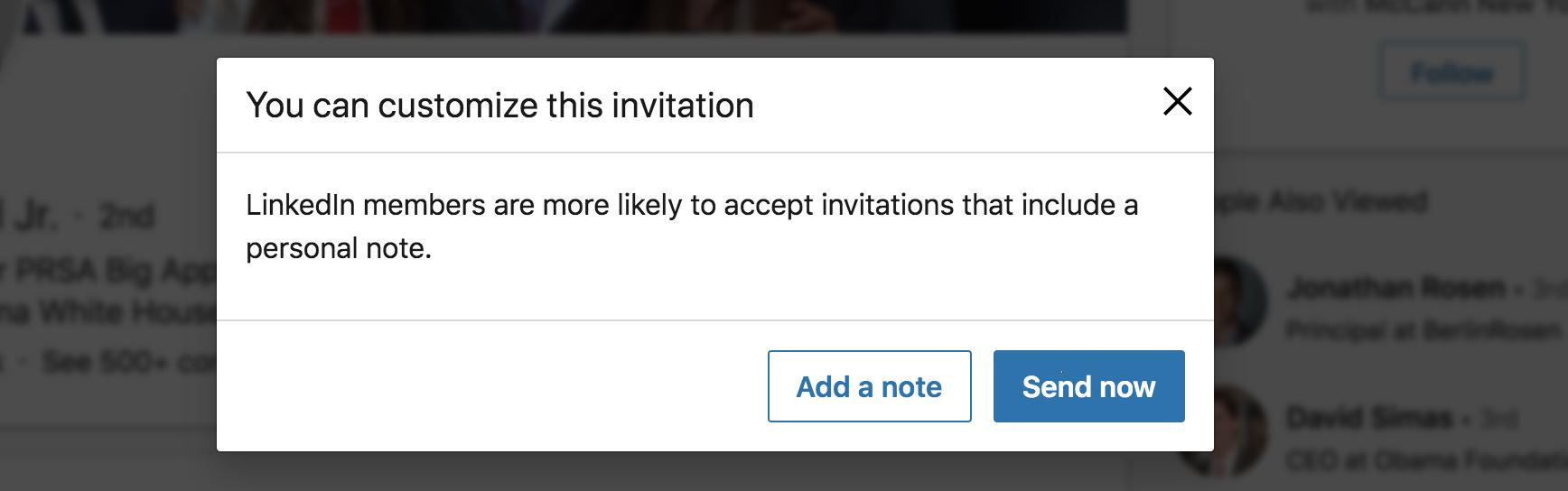 Linkedin Customization note