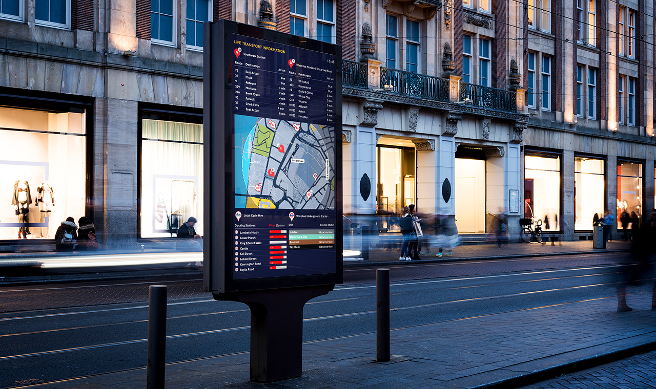 Connecting Citizens - Real-time transport information and digital wayfinding delivers clarity of local mobility options