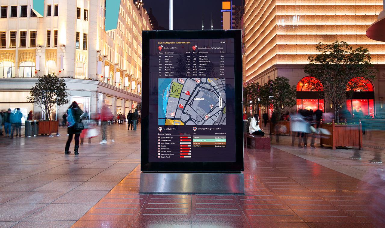 Maximising DOOH Dwell Time - by connecting street-level totems with local mobility options