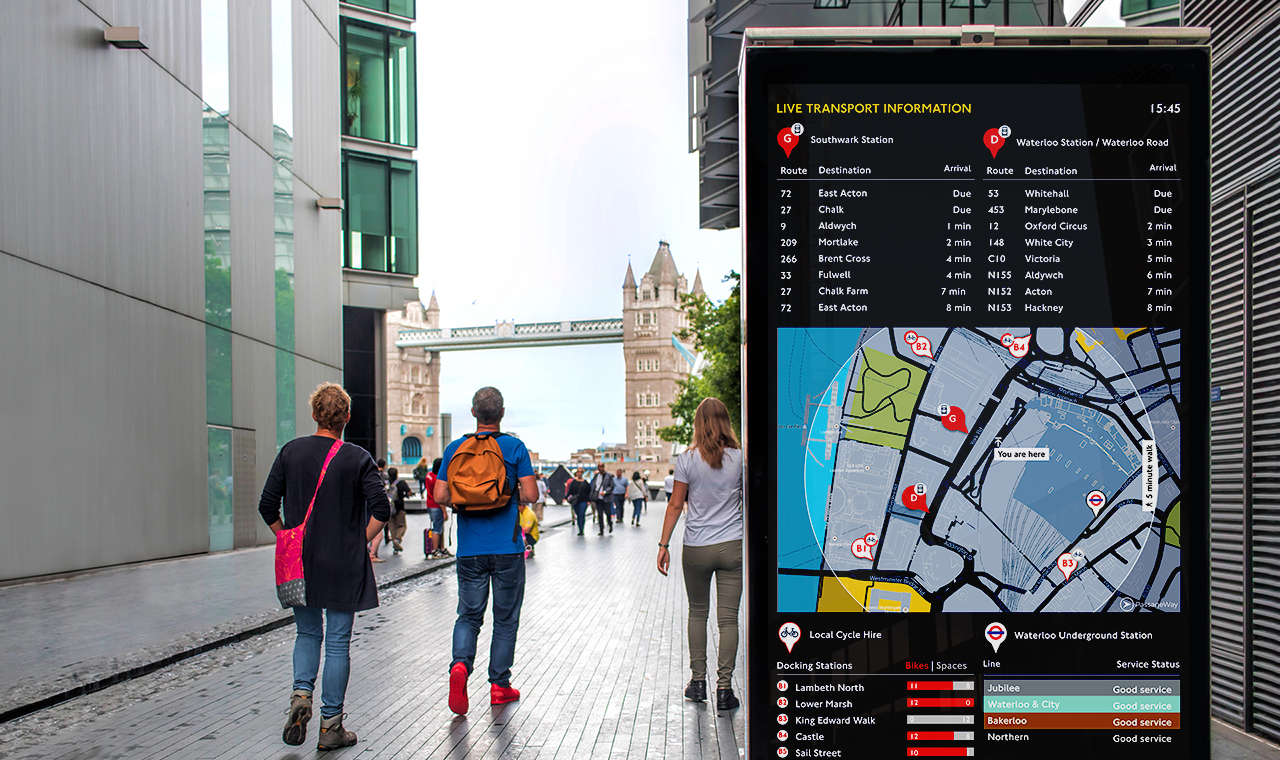 Street Level Navigation For The Digital Age - Helping tourists and visitors access real time mobility data