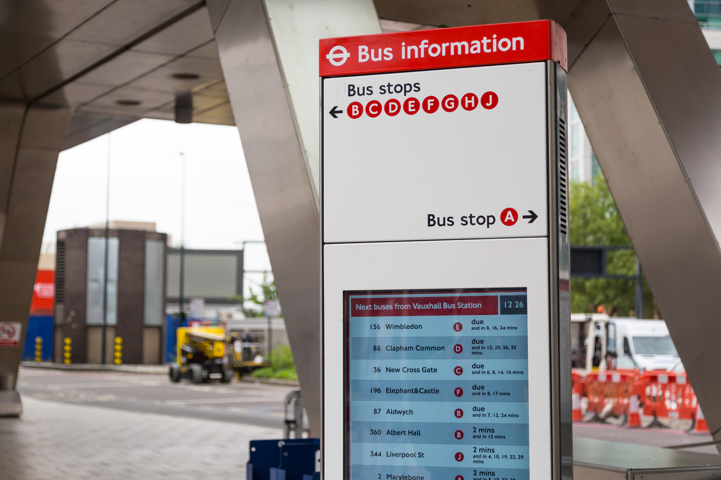 You'll Find Our Award Winning Work For TfL Across London - Including at Vauxhall bus station.