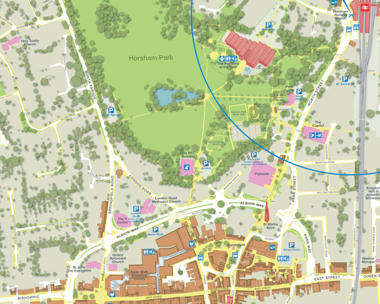 Include Custom Sustainable Transport Maps - created by Pindar Creative or other PassageWay partners.