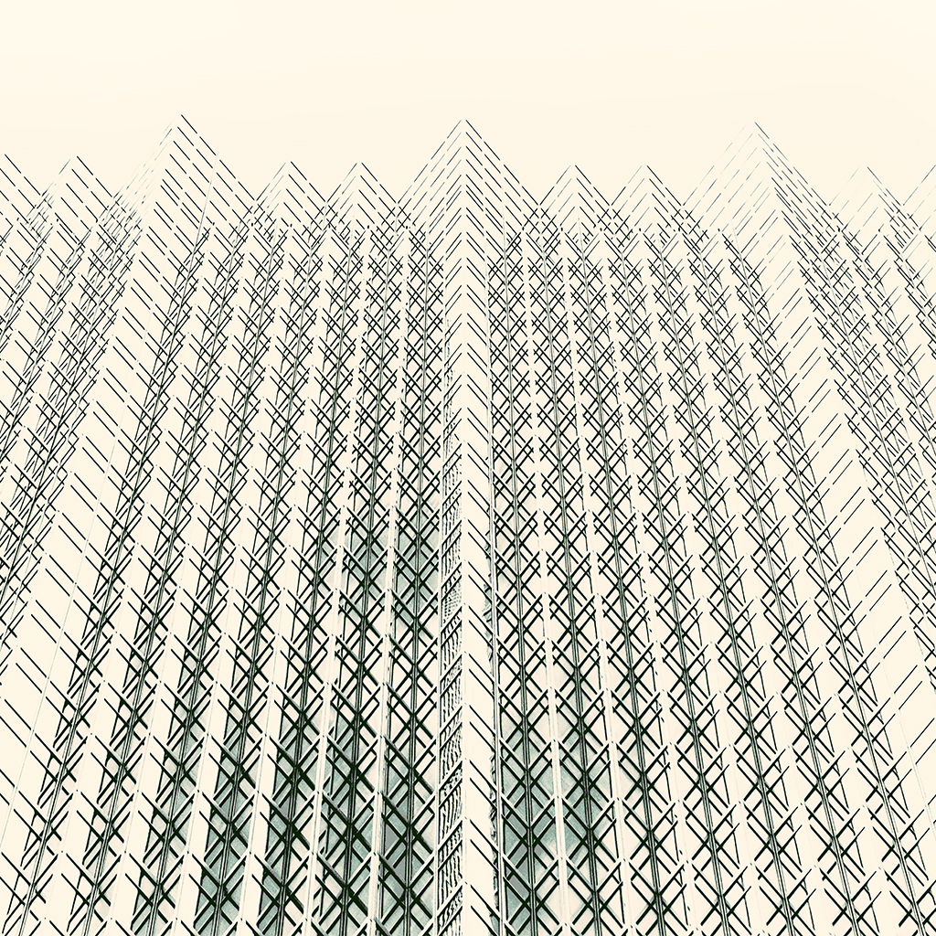 GLASS SKYSCRAPER SEPIA