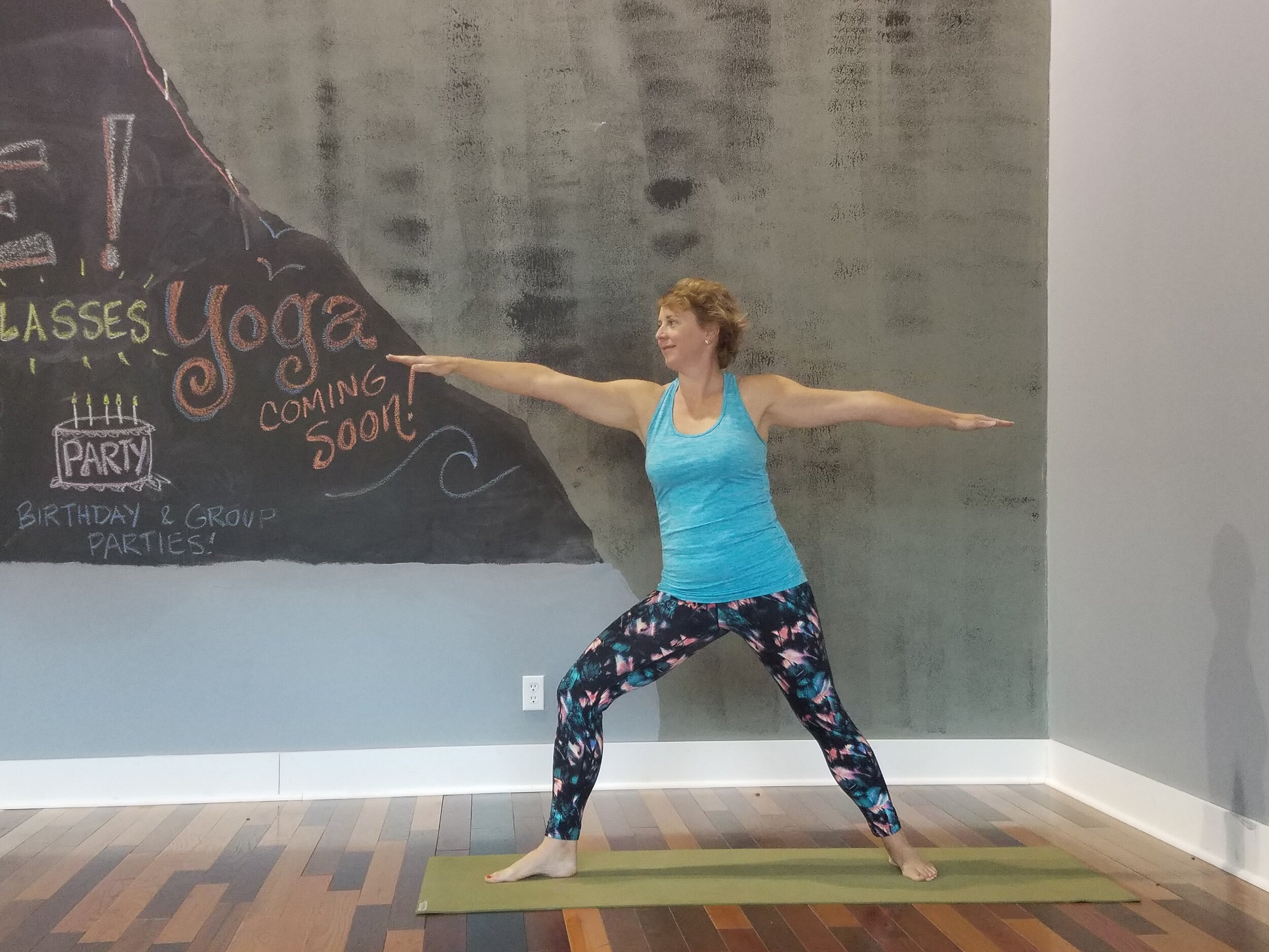 PAM IS OUR THURSDAY EVENING INSTRUCTOR. HER ALL LEVELS CLASS MEETS YOU WHERE YOU ARE IN YOUR PRACTICE, COME CHECK IT OUT AT 6PM ON THRUSDAYS!