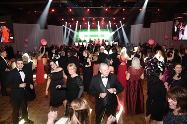 Guests on the Heart Ball dance floor