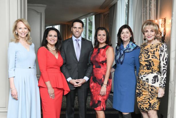 Susan Sarofim, Christina Morales, Steve Pemberton, Marcie Mir,  Roxann Neumann, Leisa Holland Nelson