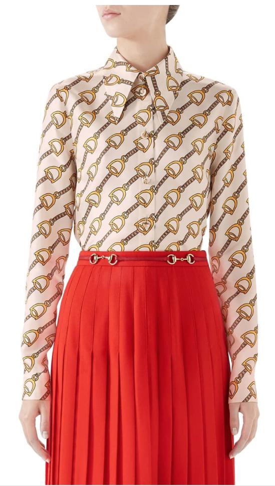 Stirrups Print Silk Twill Blouse - GUCCI Price$1,890.00