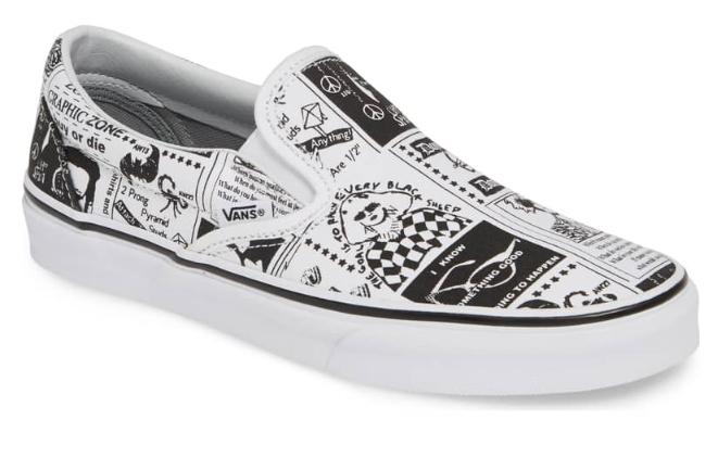 Ashley Williams Print Classic Slip-On Sneaker - Nordstrom$65