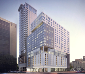 Exterior rendering of Intercontinental Houston - Medical Center   photo courtesy of Intercontinental Houston - Medical Center