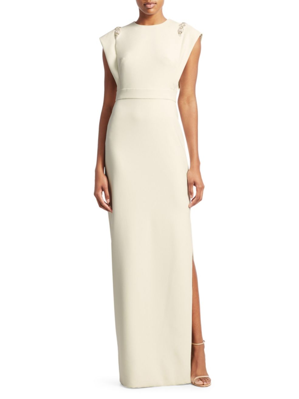 Crepe Jeweled Appliqué Gown - $995.00Saks