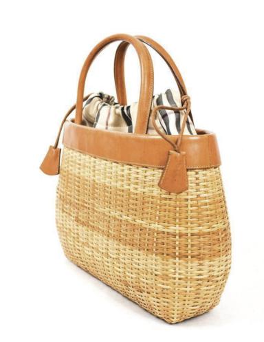 Burberry Basket Wicker Handbag