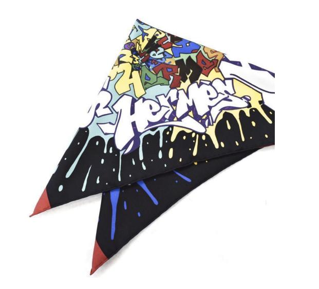 Hermés Graffiti Cashmere and Silk Scarf