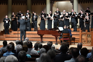 Robert Simpson conducting the Choir.   Photo by Jeff Grass Photography
