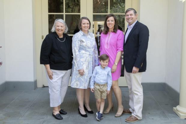 Brenda Hackedorn (honoree's mother), Katie Hackedorn (honoree), Mary Lee Wilkens (honoree's sister), Richard Wilkens James Wilkens   photo credit: Claire O'Malley Shisler