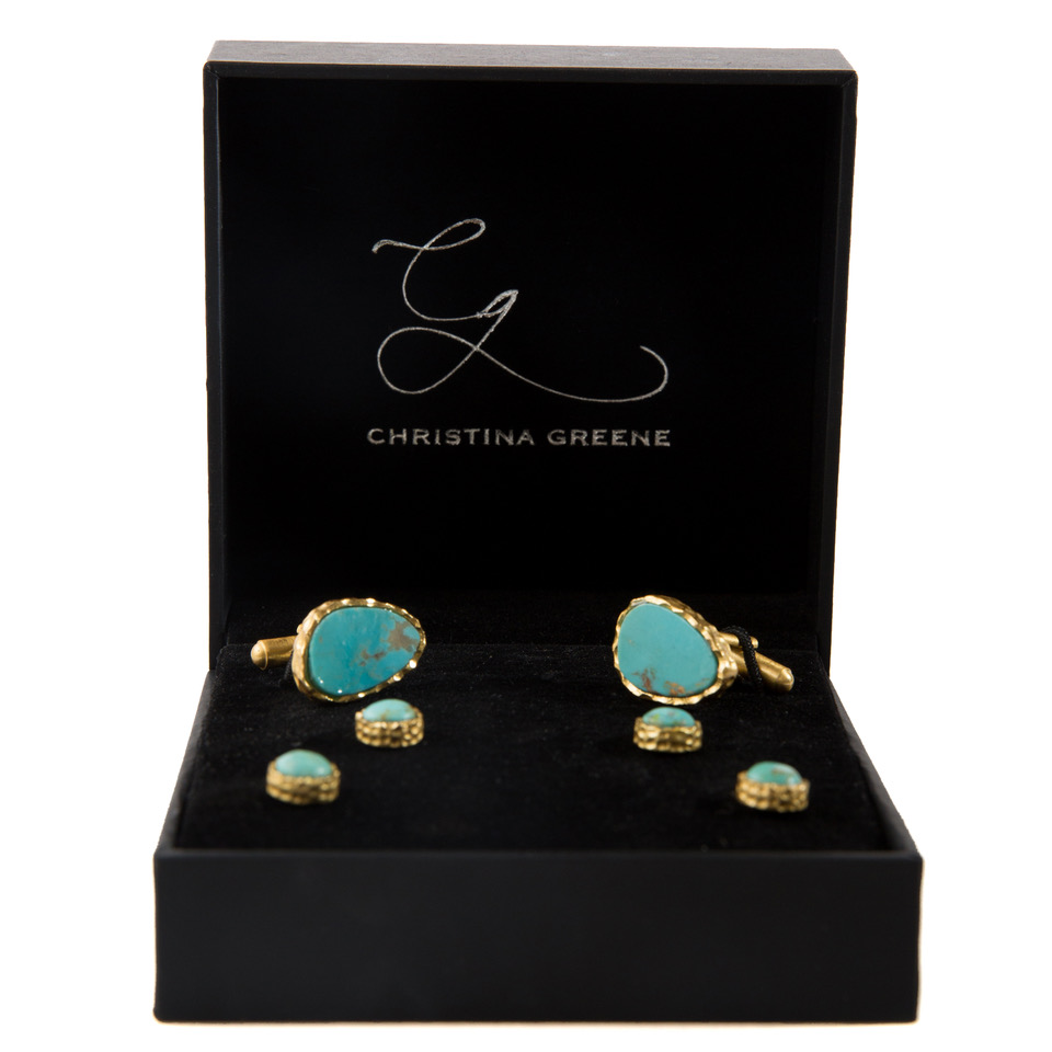 Men's Cufflink and Stud Set in Turquoise_ Retail Price $215_ Christina Greene Bridal Collection_ photo credit Paige Beitler.jpeg