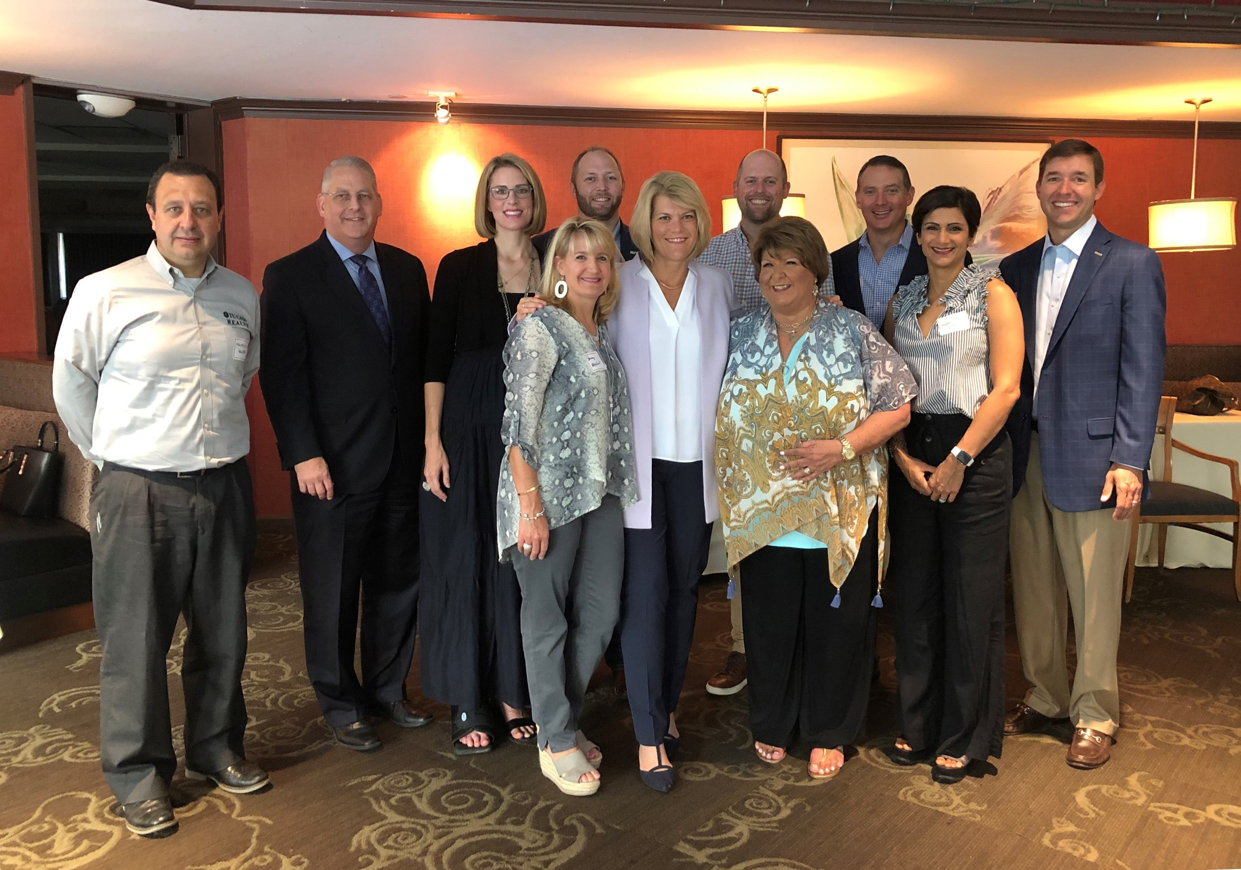 Meet the SBEF new board members: Back row (l. to r.) – Mauricio Valdes, Tom DeBesse, Elizabeth Wang, Kevin Doffing, Chris Weekley, Langston Turner, Colby Mueck. Front row (l. to r.) – Stacey Merchant, Jennifer Blaine, Cece Thompson, Bibbin Gill