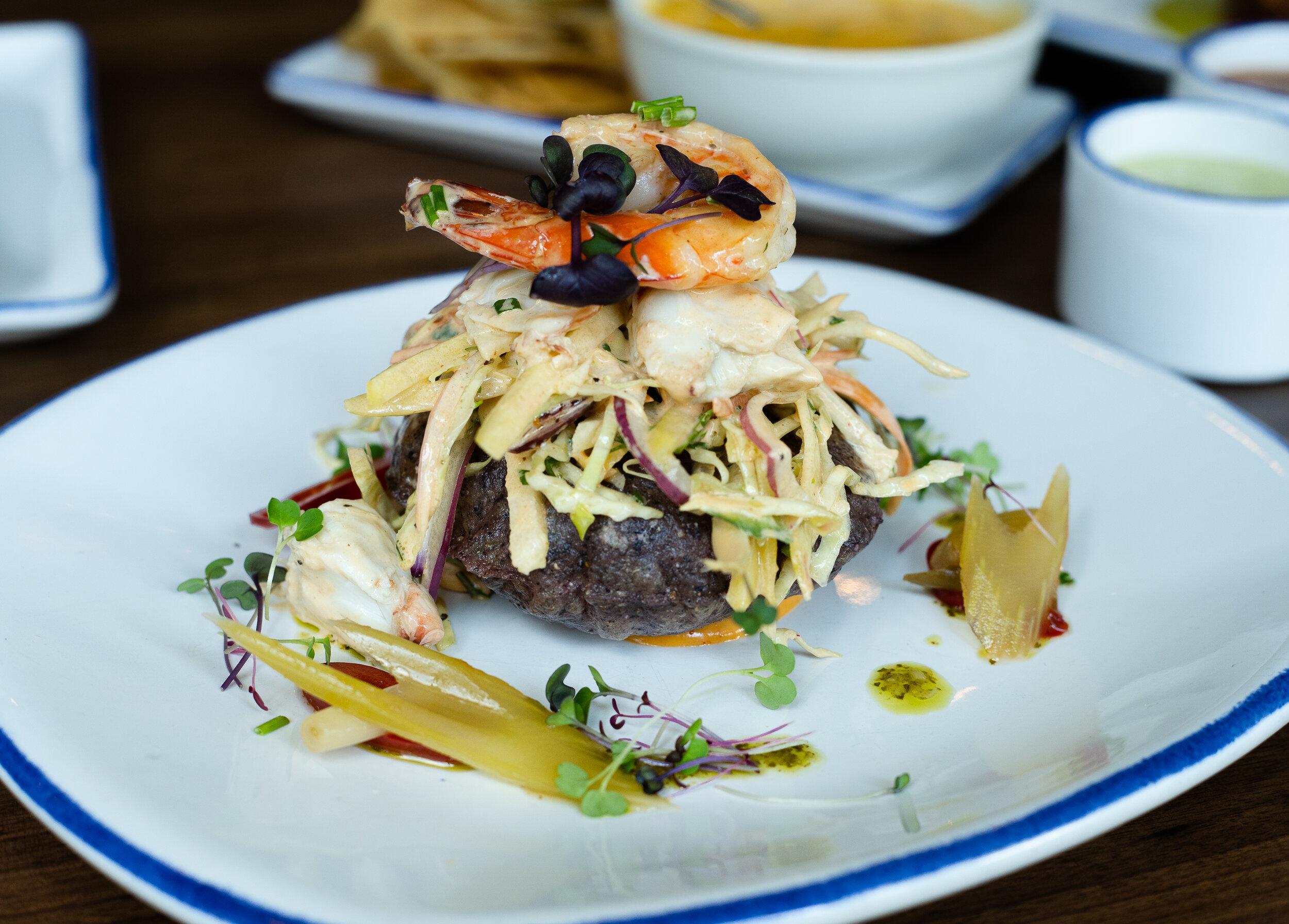 Spicy Crab and Shrimp Tostada