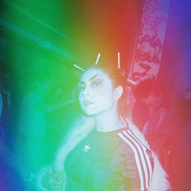 """Shots from my """"new"""" lomo courtesy of @creepyusername11 Some friends and I went to an abandoned flour mill in Mexico City that was converted into some kind of rave. I used #lomocolorsplash and @psychedelic_blues_film to achieve the results. You can check out the full set on my website 🌟#35mmfilm #travelphotography #residentadvisor #clubphotography #psychblues #psychbluesfilm #psychblues4"""