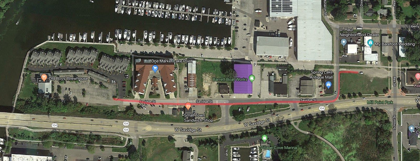 Mill Point Health Center Parking Map
