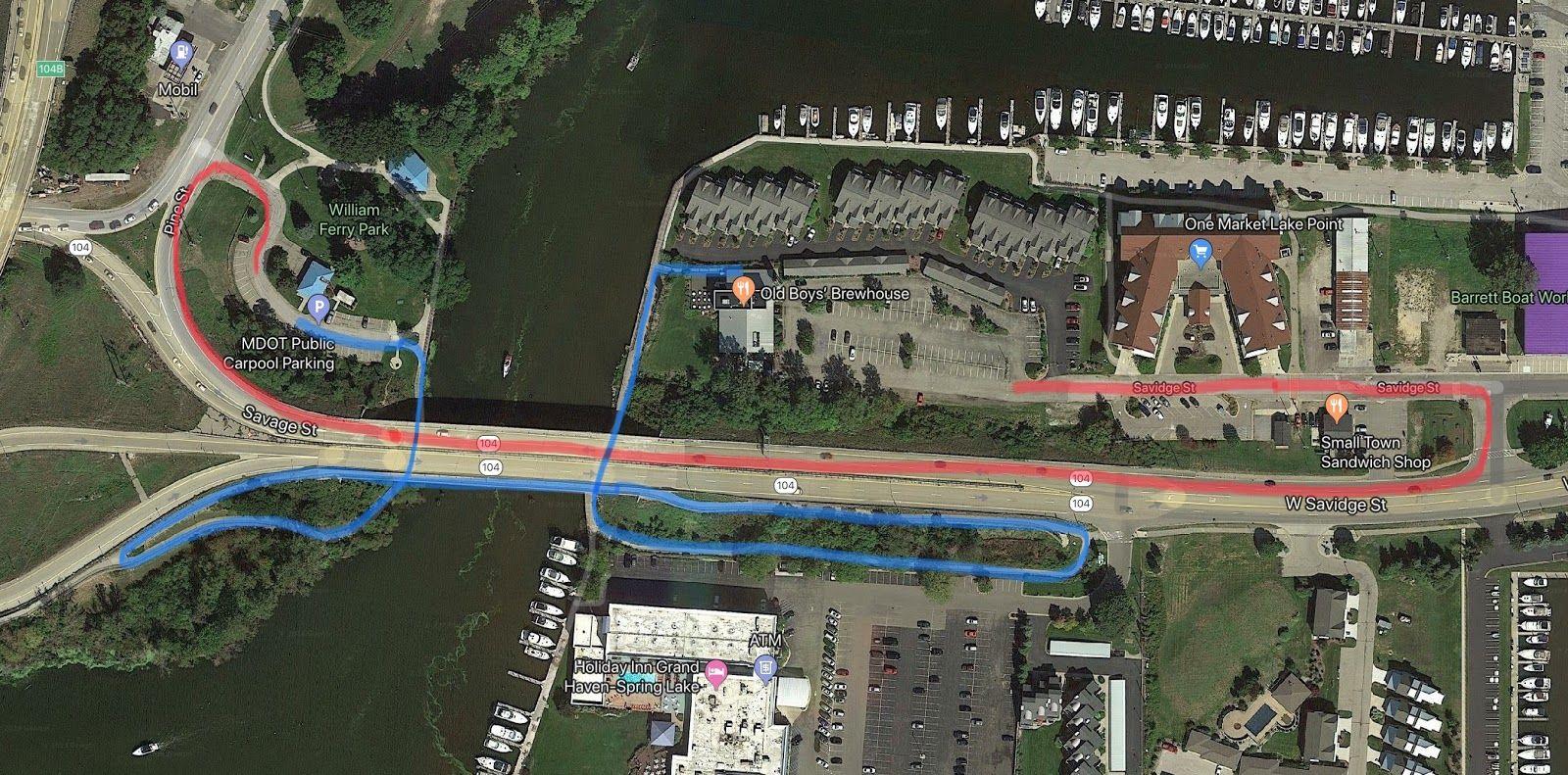 William Ferry Park Parking Map