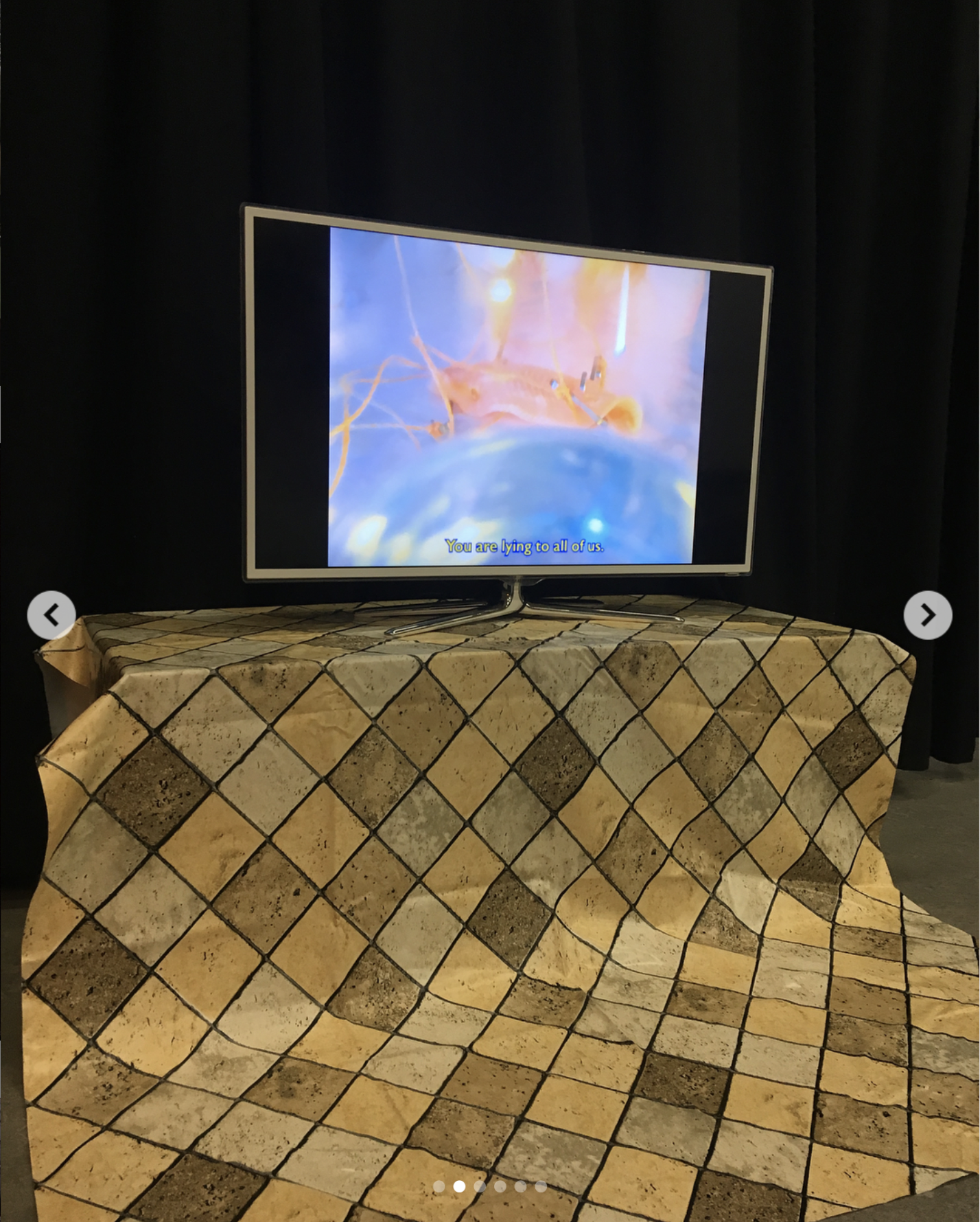 Documentation of video installation