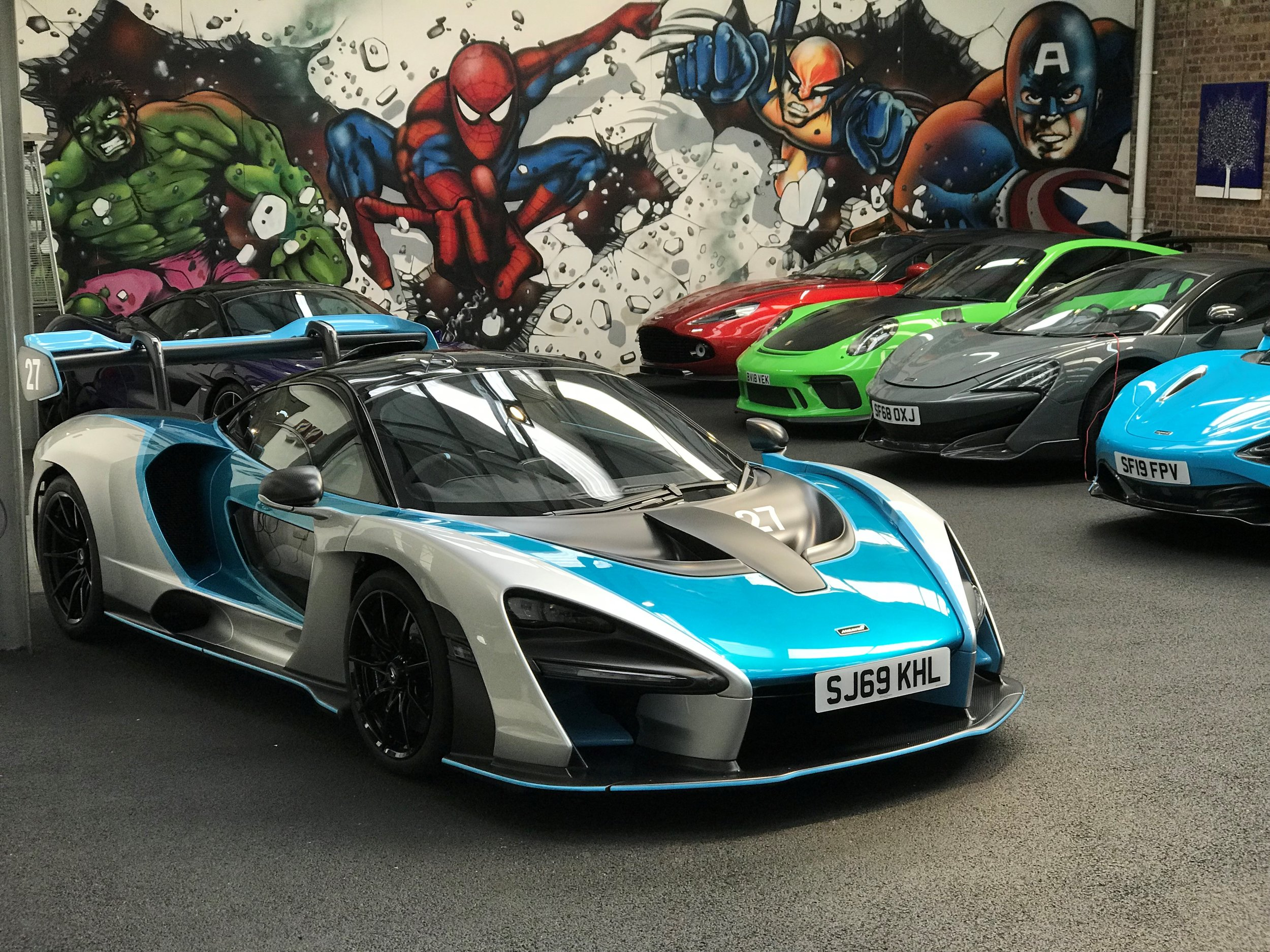 The world's only McLaren Senna available for private hire arrives at Auto Vivendi in London
