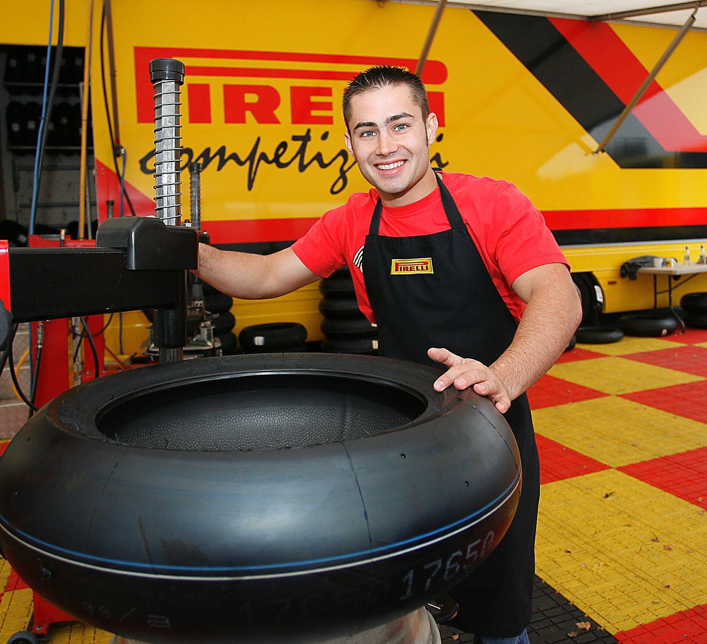 Leon Haslam jumps through a PR 'hoop'!.JPG