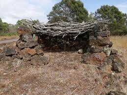 """Figure 2: A contemporary photograph of a Tyrendarra stone """"house""""- c/o Tripadviser"""