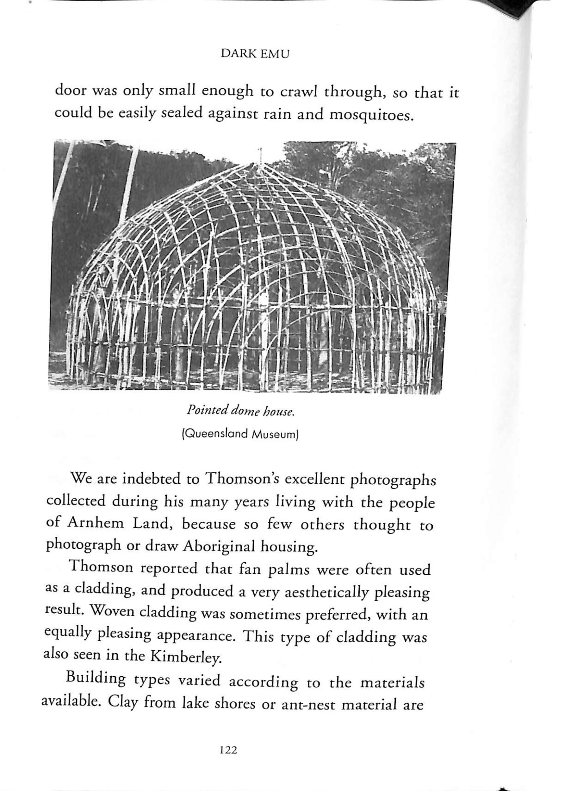 """Figure 1 : Supposedly an example of an """"Australian Aboriginal Pointed Dome House"""" in  Dark Emu"""