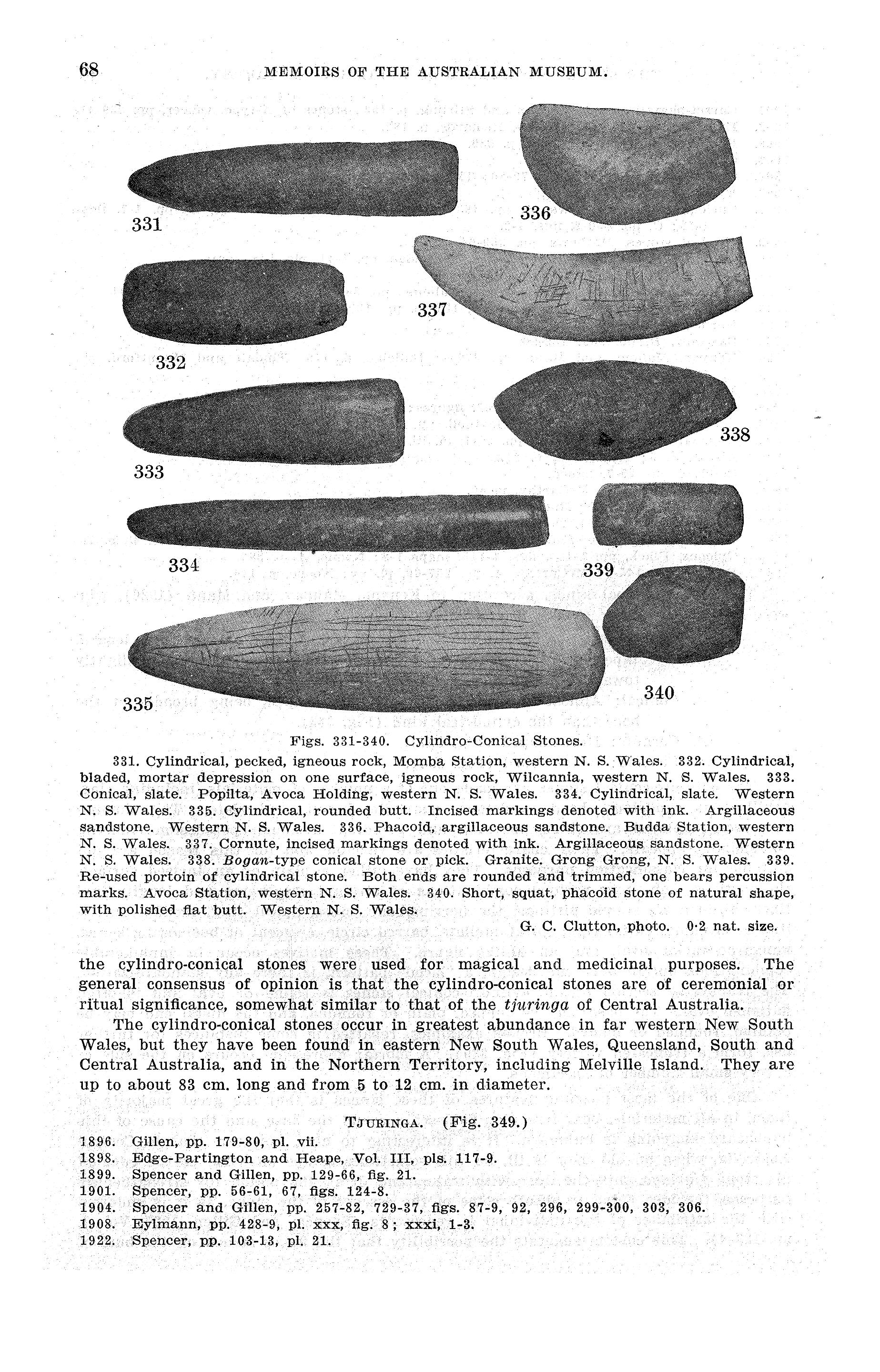Stone Implements of Aust
