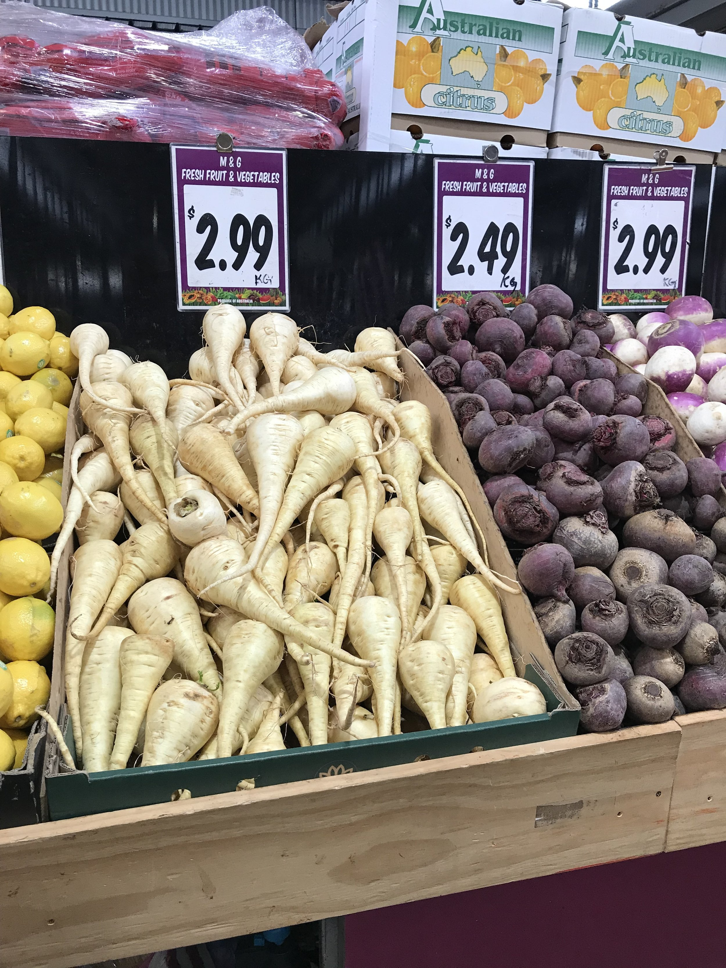 - A successful Colonial version of the myrnong?The humble parsnip, produced on-mass in Victorian soils for $2.99/kg.