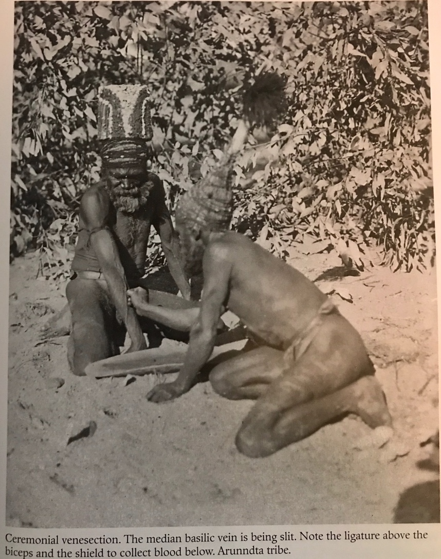 "- The Australian anthropologist, A.P. Elkin in his book, ""The Australian Aborigines"", (1938, rev 1974, p222ff) describes in detail, the Increase Rites or Ceremonies of the Aborigines where they drew on their spirits and totems to increase natural species such as kangaroo, wallaby, lilies and yams, and phenomena, such as rain. Rather than take a direct action themselves to increase the population of an animal by domesticating and breeding, or a plant such as yam, by cultivation and transplanting, the Aborigines instead appealed to their spirits or totems with words to the effect, ""let there be plenty of kangaroo here, and there."" They would then for example, blow powder from a stone at the relevant kangaroo sacred site, throw stones from a sacred heap, or take a mixture of a powdered earth and blood from the hunter's vein, and leave it where the hunters hoped to find prey."