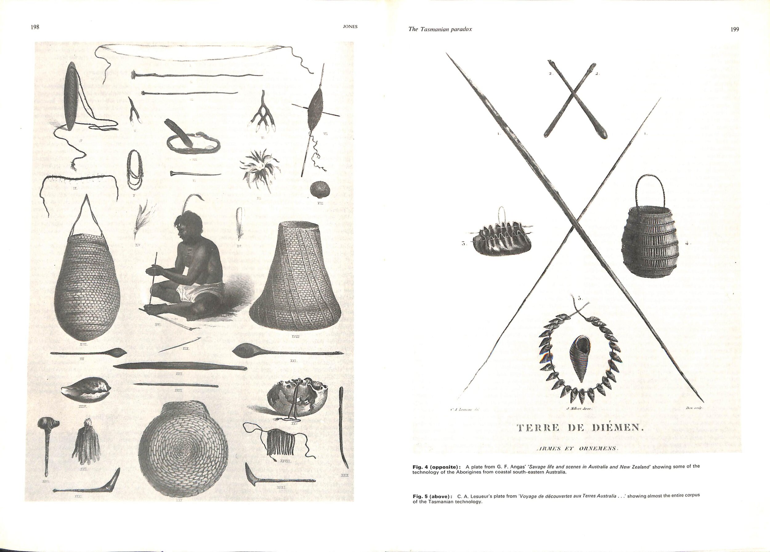 - There is no record in the early ethnographers collections of any 'hoe-like' implement, or any stone Bogan pick-like item, that was recorded as being used as a soil-cultivating hoe, as claimed by Mr Pascoe.Here are diagrams of the tool kits of the Aborigines from SE Australia and Tasmania - no Bogan pick 'hoes' to be seen.