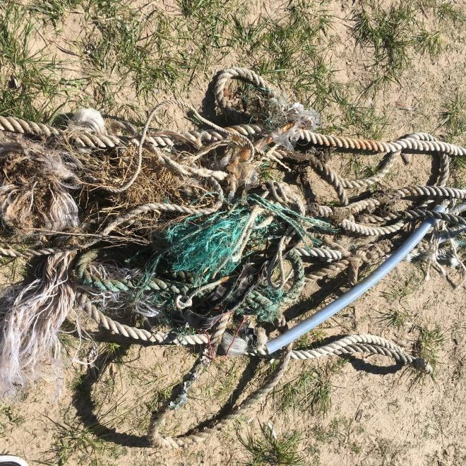 40 metres of rope was collected
