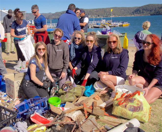 Some of the Living Ocean & Wanderlightly clean-up crew – Photo Robbi Luscombe-Newman