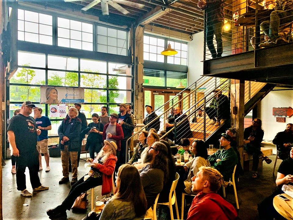 1st Democratic Presidential Primary Debate watch party co-hosted by Bernie PDX / PDX for Bernie, and Portland Democratic Socialists of America - 27 June 2019.
