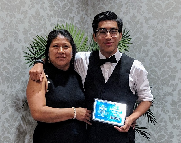 Fernando Aguilar and his proud mother.