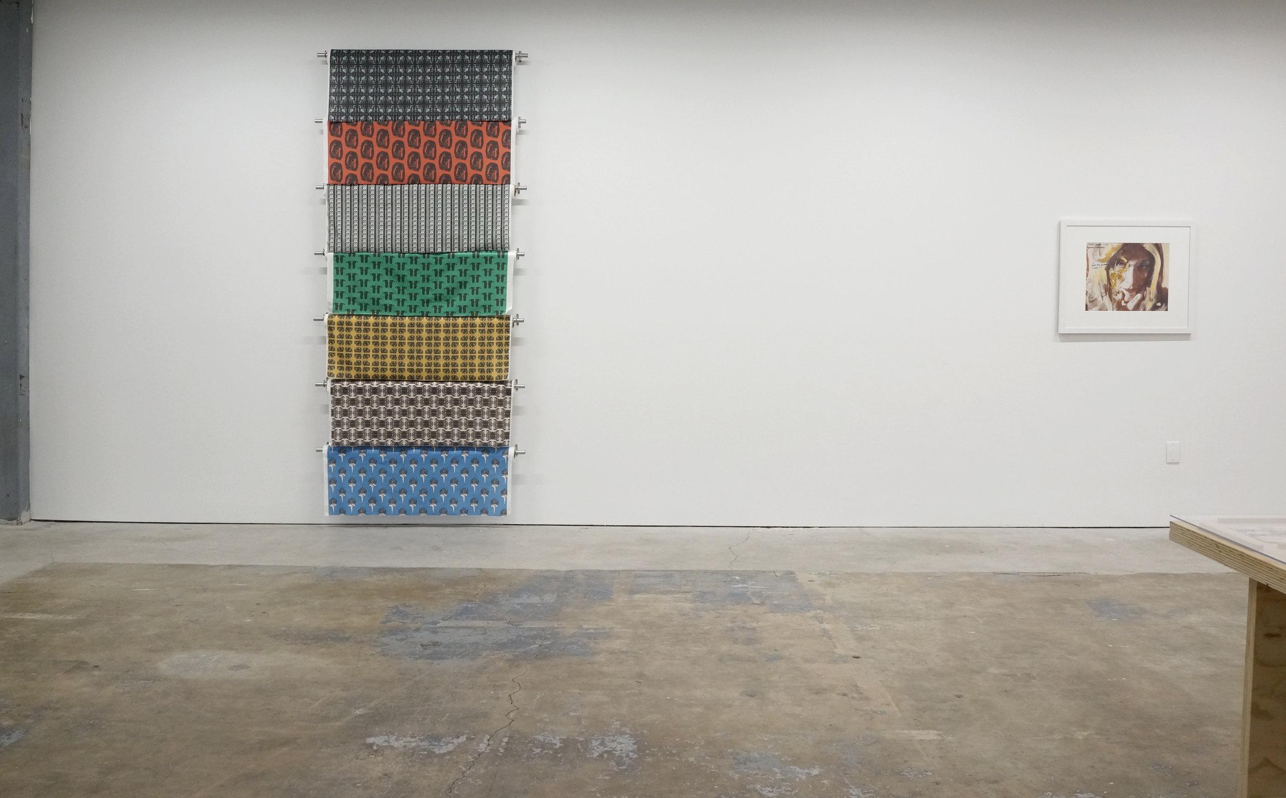 Installation view, L — Taraneh Hemami, R — Lynn Hershman Leeson