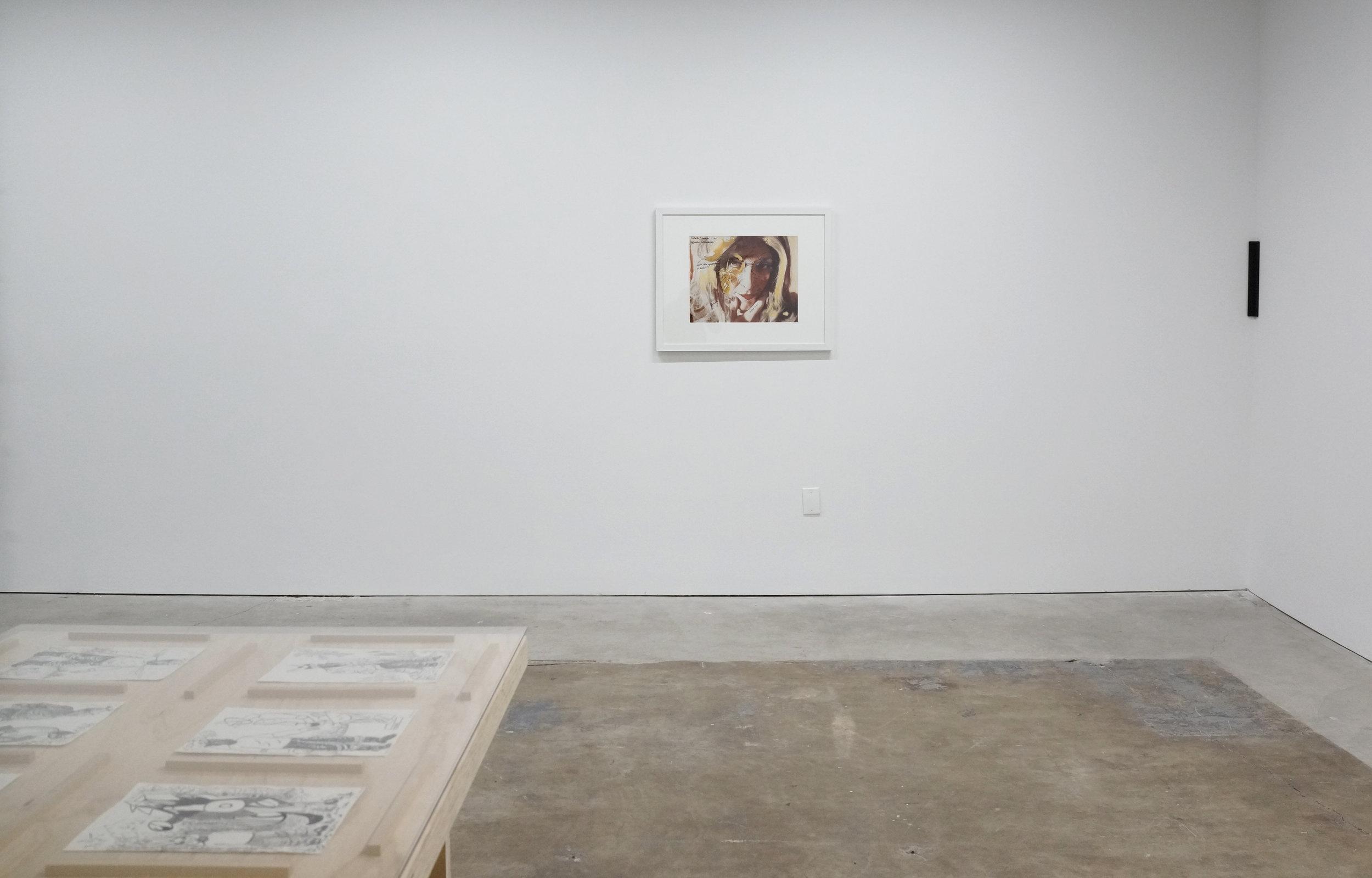 Installation view, table — John Bankston, L — Lynn Hershman Leeson, R — Gregory Kaplowitz