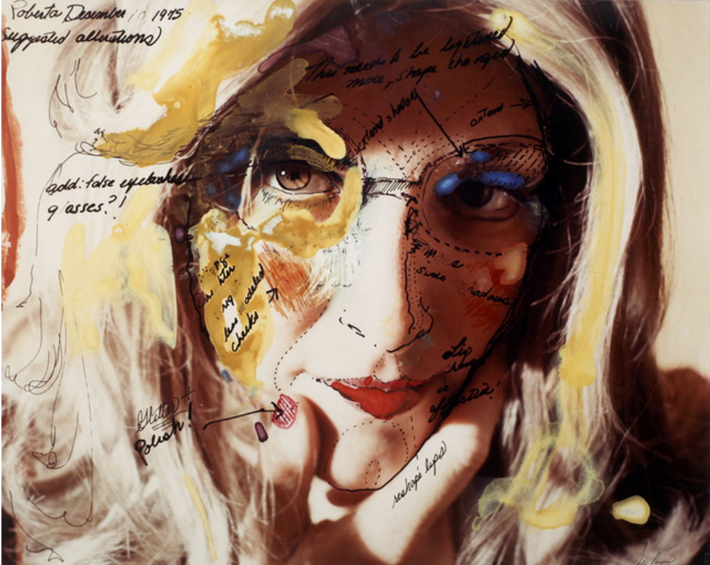 "Lynn Hershman Leeson, Roberta's Construction Chart #2 (Suggested Alterations), 1975. Chromogenic print 16"" x 20"" Courtesy of Anglim Gilbert Gallery"