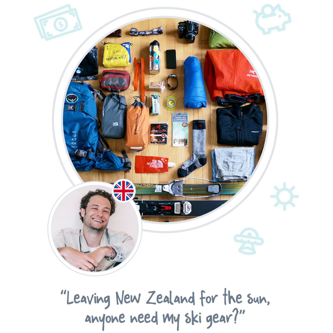 SELL ITEMS - Sell travelling items you no longer need to new arriving backpackers when you are ready to leave a place