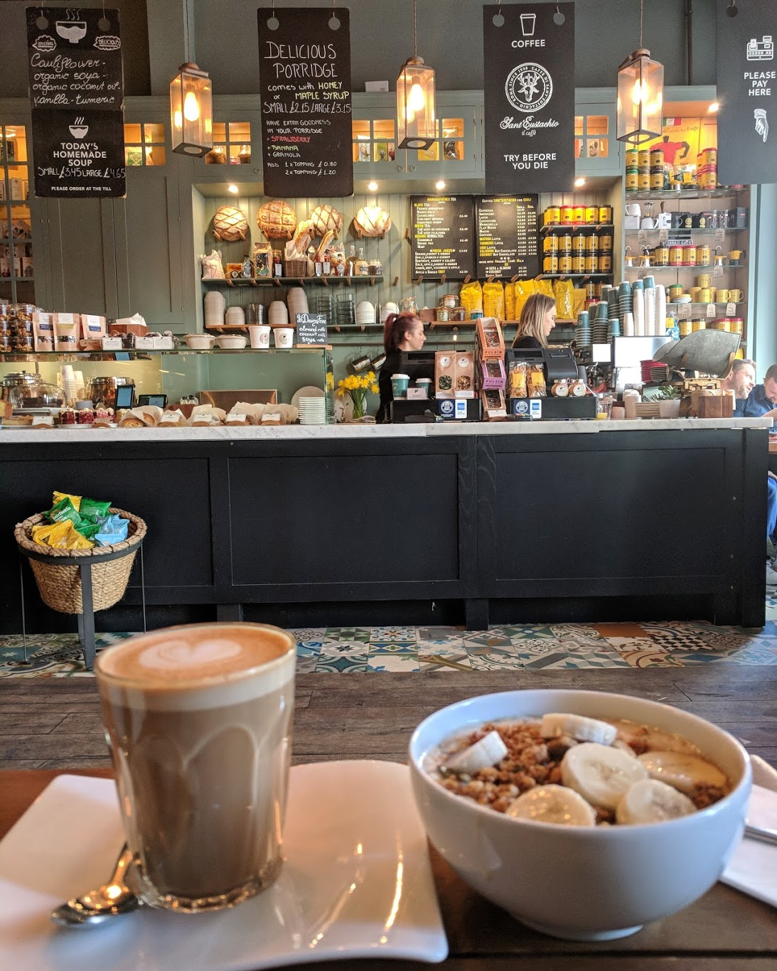 London - 1. Prufrock Coffee2. The Monocle Cafe3. Climpson & Sons CafeFull London list here.