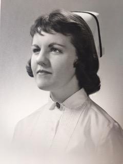 Sharon Parent in her Nursing school graduation portrait.