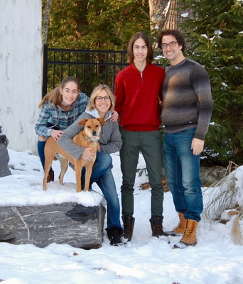 The Ouellette Family (Left to Right): Laura, Pippa, Amy, Armand, and Lucien.