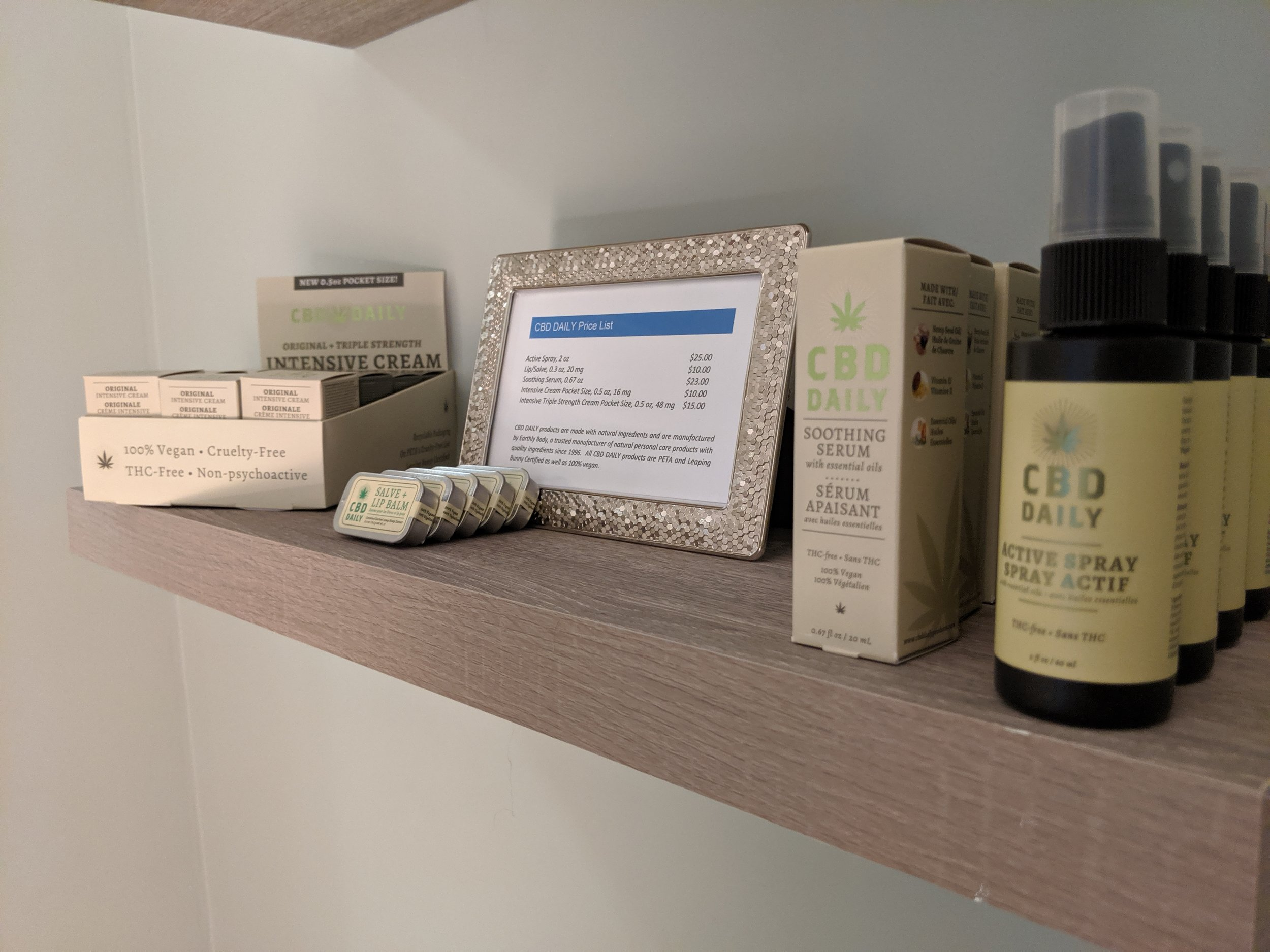 CBD Daily Products - available for purchase